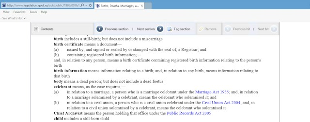 Picture of Births Deaths Marriages Relationships Registration Act 1995