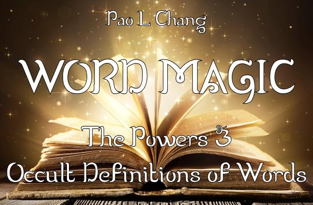 The book Word Magic