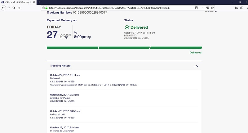 USPS-tracking-info-IRS-Cincinnati-OH